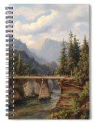 Crossing The River Bridge Spiral Notebook