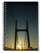 Crossing The Severn Bridge At Sunset - Cardiff - Wales Spiral Notebook