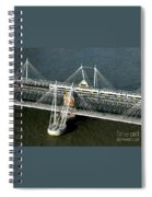 Crossing The Thames Spiral Notebook