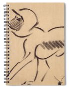 Crouching Monkey Spiral Notebook