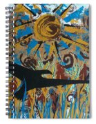 Crow Carrying Sun Medicine Spiral Notebook