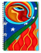Crow Moon And Sun Spiral Notebook