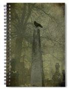 Crow On Spire Spiral Notebook
