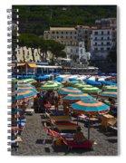 Crowded Beach Spiral Notebook
