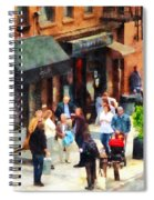 Crowded Sidewalk In New York Spiral Notebook