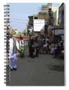 Crowded Street And Devotees In Front Of Golden Temple In Amritsar Spiral Notebook