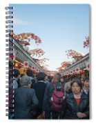 Crowds Shopping Spiral Notebook