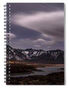 Crowley Lake At Night Spiral Notebook