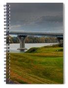 Crown Point Lake Champlain Panorama Spiral Notebook