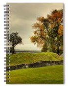 Crown Point Panorama Of The New Lake Champlain Bridge Spiral Notebook
