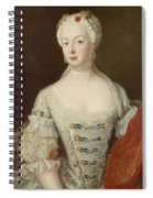 Crown Princess Elisabeth Christine Von Preussen, C.1735 Oil On Canvas Spiral Notebook