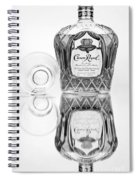 Crown Royal Black And White Spiral Notebook