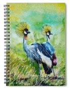 Crowned Cranes Spiral Notebook