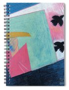 Crows And Geometric Figure Spiral Notebook