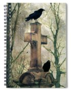 Urban Graveyard Crows Spiral Notebook