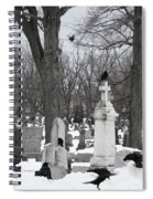 Crows In Gothic Winter Wonderland Spiral Notebook