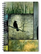 Crows In Nature Collage Spiral Notebook