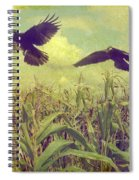 Crows Of The Corn Spiral Notebook