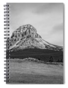 Crowsnest Mountain Black And White Spiral Notebook