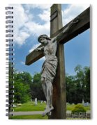 Crucifix Statue St James Cemetery Sewickley Heights Pennsylvania Spiral Notebook