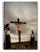 Crucifixion Scene Of Roman Movie Spiral Notebook
