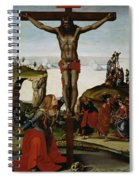 Crucifixion With Mary Magdalene Spiral Notebook
