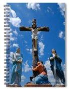 Cruficix Statue At Saint Alphonsus Church Wexford Spiral Notebook