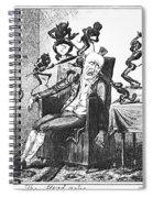 Cruikshank: Headache, 1819 Spiral Notebook