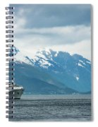 Cruise Ship In The Sognefjord In Norway Spiral Notebook