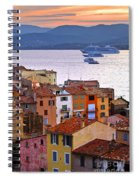 Cruise Ships At St.tropez Spiral Notebook