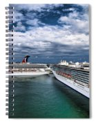 Cruise Ships Port Everglades Florida Spiral Notebook