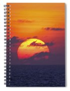 Cruise Sunset Spiral Notebook