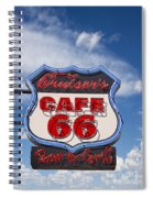 Cruisers Cafe 66 Sign Spiral Notebook