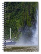 Cruising By A Waterfall Spiral Notebook