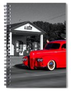 Cruising Route 66 Dwight Il Selective Coloring Digital Art Spiral Notebook