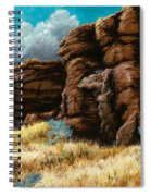 Crumbling Cliffs At Harney Or Spiral Notebook