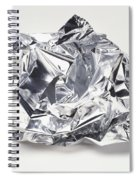 Crumpled Aluminum Foil Spiral Notebook