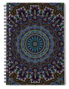 Crushed Blue Velvet Kaleidoscope Spiral Notebook