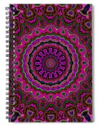 Crushed Pink Velvet Kaleidoscope Spiral Notebook