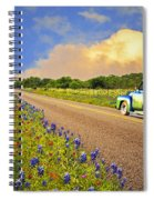 Crusin' The Hill Country In Spring Spiral Notebook