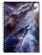 Cry Of The Raven Spiral Notebook