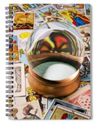 Crystal Ball And Tarot Cards Spiral Notebook