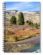 Crystal Creek In The Gros Ventre Spiral Notebook