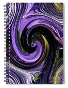 Crystal Fountain Twirls Spiral Notebook