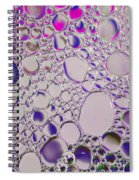 Crystal Pink Abstract Spiral Notebook