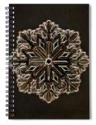 Crystal Snowflake Spiral Notebook