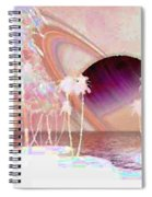 Crystal Sunset Spiral Notebook
