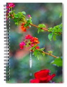 Crystals On Flowers Spiral Notebook