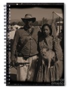 Csa Cavalryman And Wife Spiral Notebook