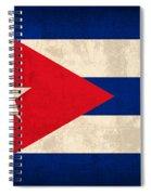 Cuba Flag Vintage Distressed Finish Spiral Notebook